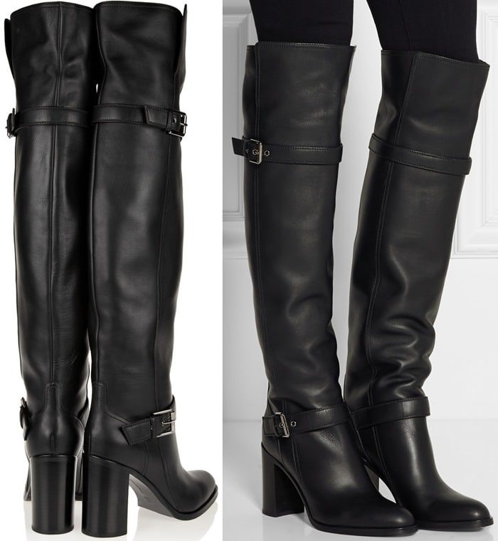 Gianvito Rossi Black Leather Over-the-knee Boots