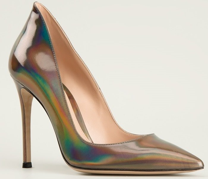 Gianvito Rossi Gold Ellipsis Pumps