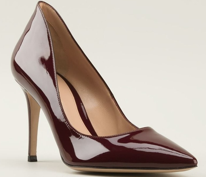Gianvito Rossi Red Ellipsis Pumps
