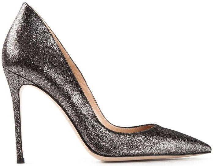 Gianvito Rossi Silver Ellipsis Pumps
