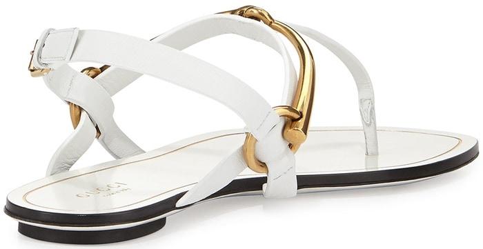 Gucci Tess Horsebit Slingback Thong Sandals