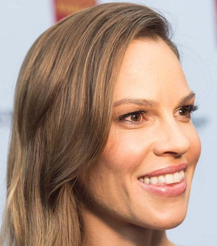 Hilary Swank at the opening night screening of her new movie 'The Homesman' held at the Art Club during the 2014 Mill Valley Film Festival in Mill Valley on October 3, 2014