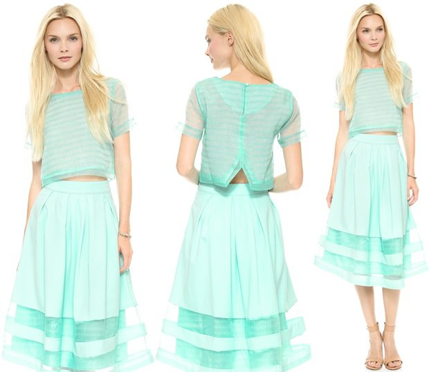 JOA Tee Shirt Blouse and JOA Knee Length Skirt
