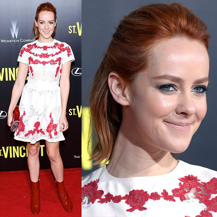 Jena Malone at the premiere of 'St. Vincent' at the Ziegfeld Theatre in New York City on October 7, 2014