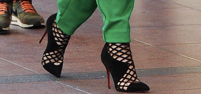 Jennifer Lopez rocks Christian Louboutin Encage booties