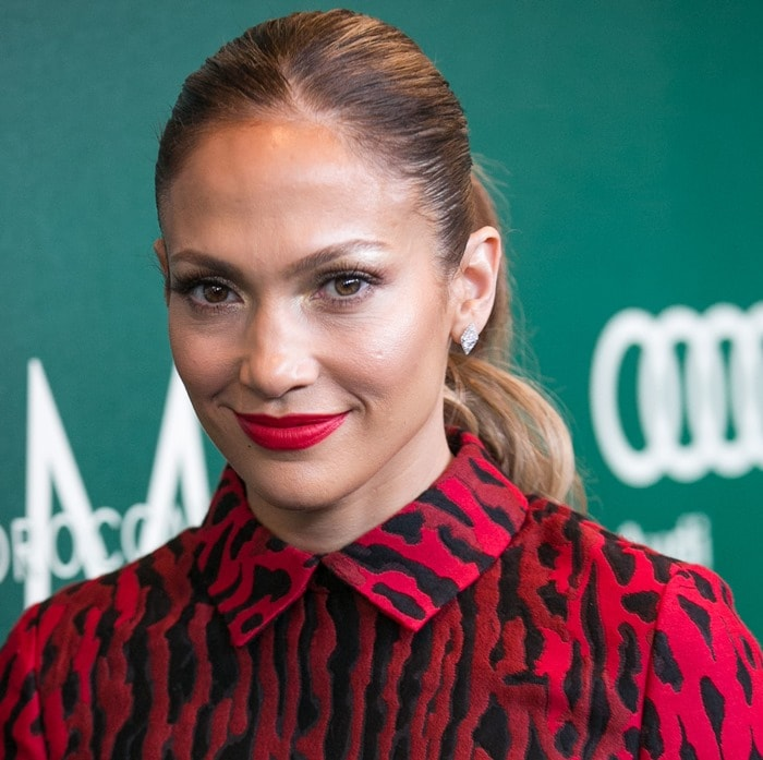 Jennifer Lopez at the 2014 Variety Power of Women event presented by Lifetime at the Beverly Wilshire Four Seasons in Los Angeles on October 10, 2014