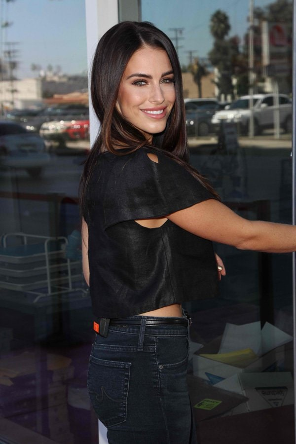 Jessica Lowndes visits Hollywood Today Live in Los Angeles, California on August 18, 2014