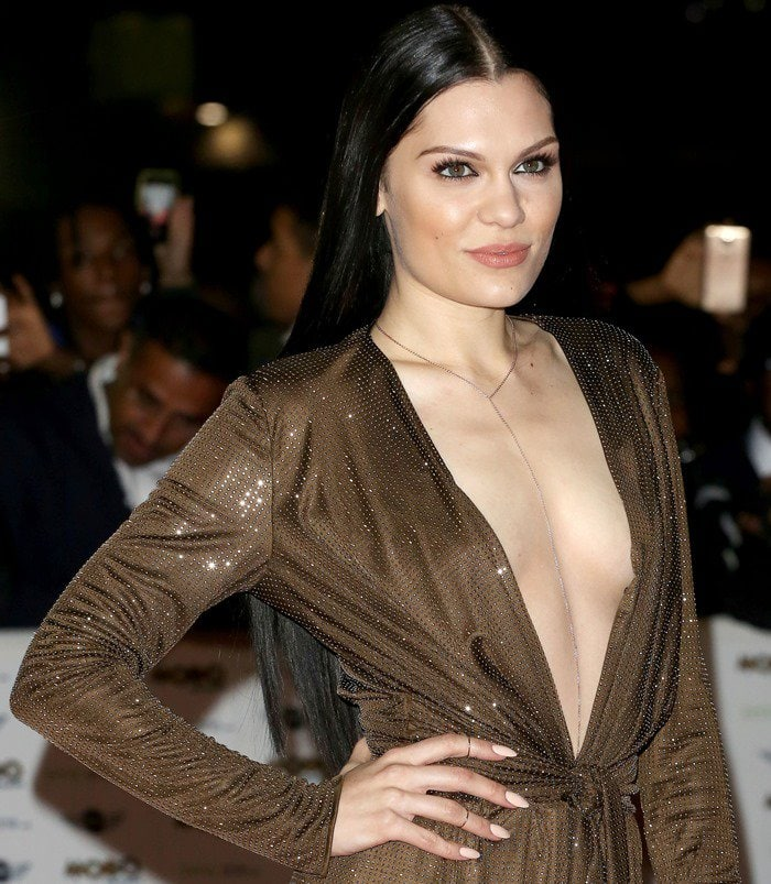 Jessie J attends the MOBO Awards at SSE Arena on October 22, 2014, in London, England