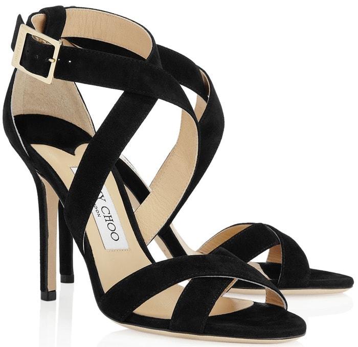 Jimmy Choo Black Lottie Sandals