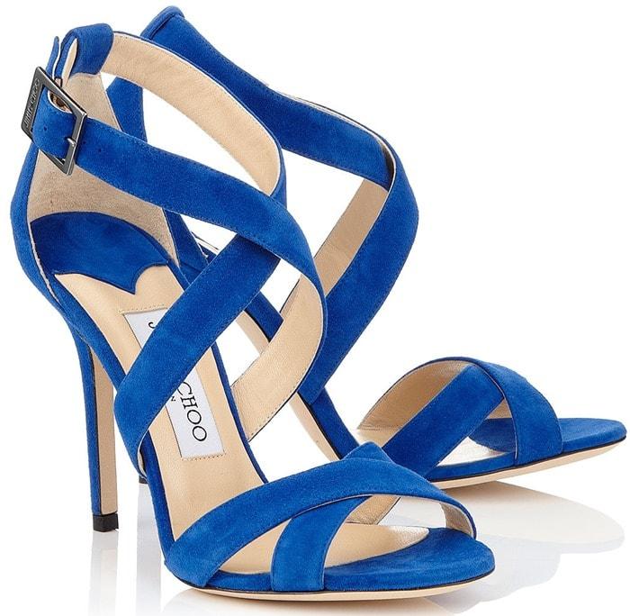 Jimmy Choo Blue Lottie Sandals