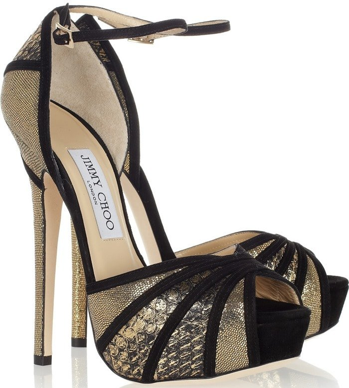 Jimmy Choo Gold Kalpa Sandals