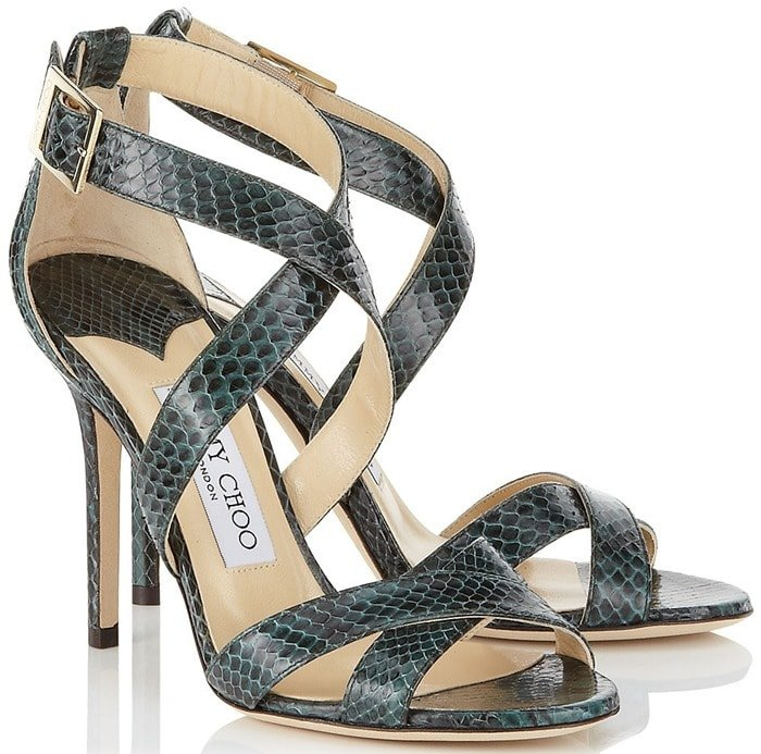 Jimmy Choo Green Lottie Sandals