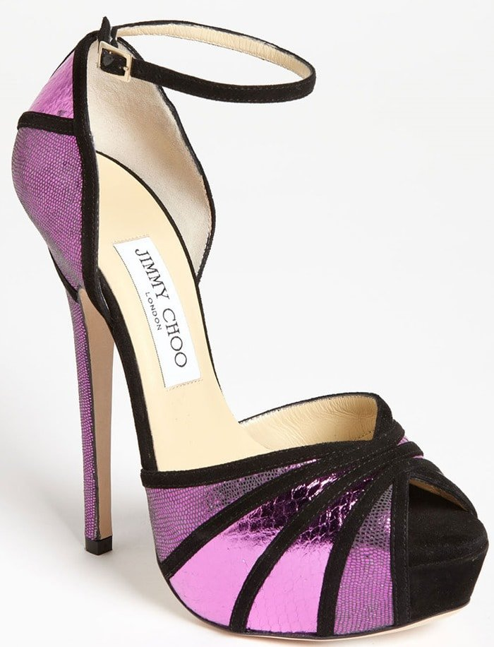 Jimmy Choo Purple Kalpa Sandals