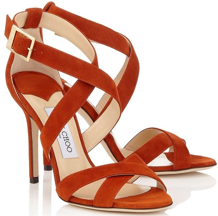 Jimmy Choo Red Lottie Sandals