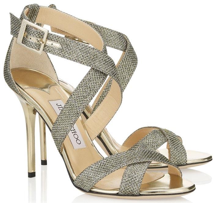 Jimmy Choo Silver Lottie Sandals
