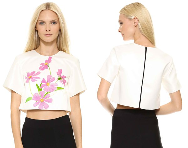 Karla Spetic Roadside Flower Crop Top