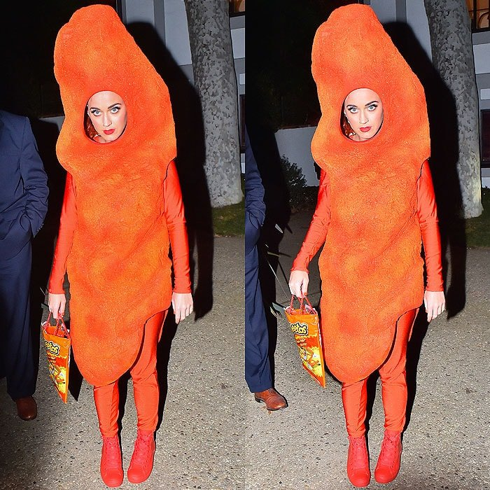 Katy Perry arriving at Kate Hudson's Halloween party in Pacific Palisades, California, on October 30, 2014