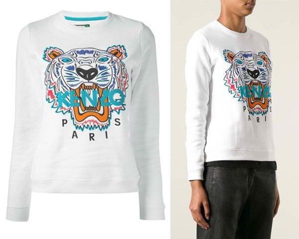 Kenzo-Tiger-Logo-Embroidered-Sweatshirt