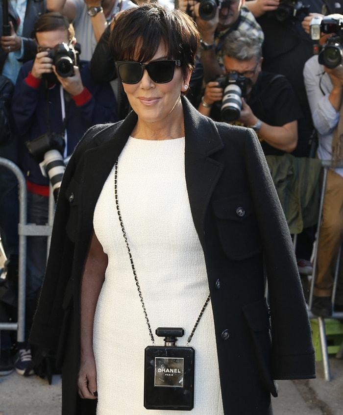 Kris Jenner at the Chanel show at Paris Fashion Week Spring/Summer 2015 in Paris, France, on September 30, 2014