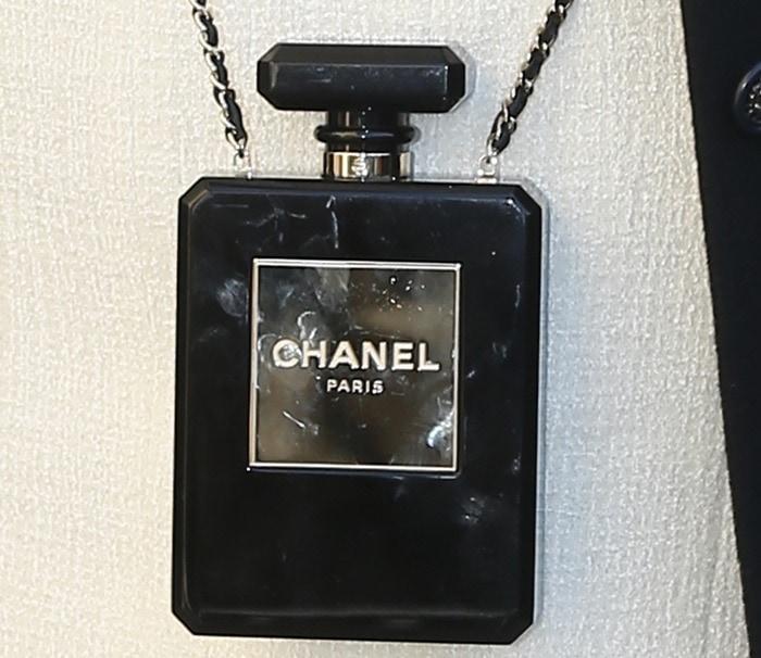 Kris Jenner'sChanel perfume bottle bag
