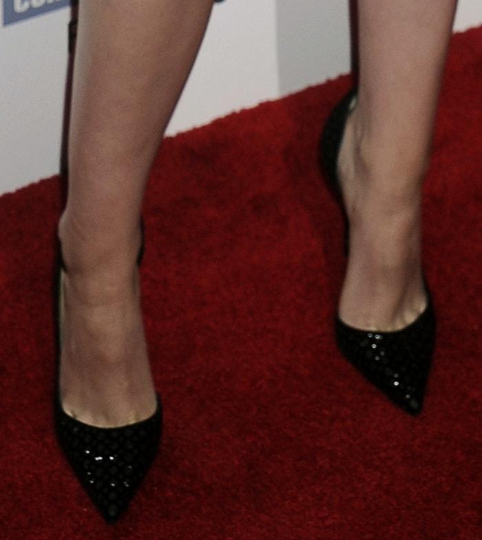 "Kristen Stewart wearingChristian Louboutin ""Iriza"" pumps"