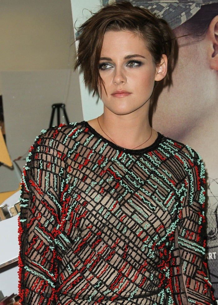Kristen Stewart at the premiere of her latest film, 'Camp X-Ray', held at the Crosby Street Hotel