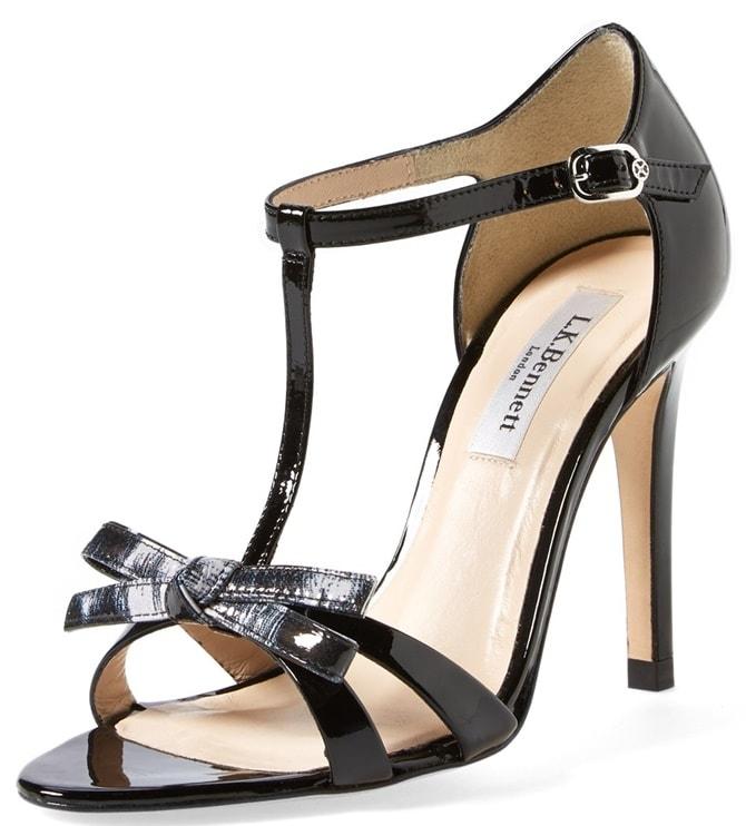 L.K. Bennett 'Anya' T Strap Leather Sandals