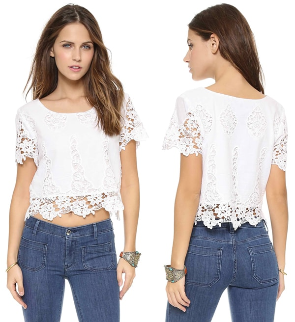 LIV Cap Sleeve Cropped Top