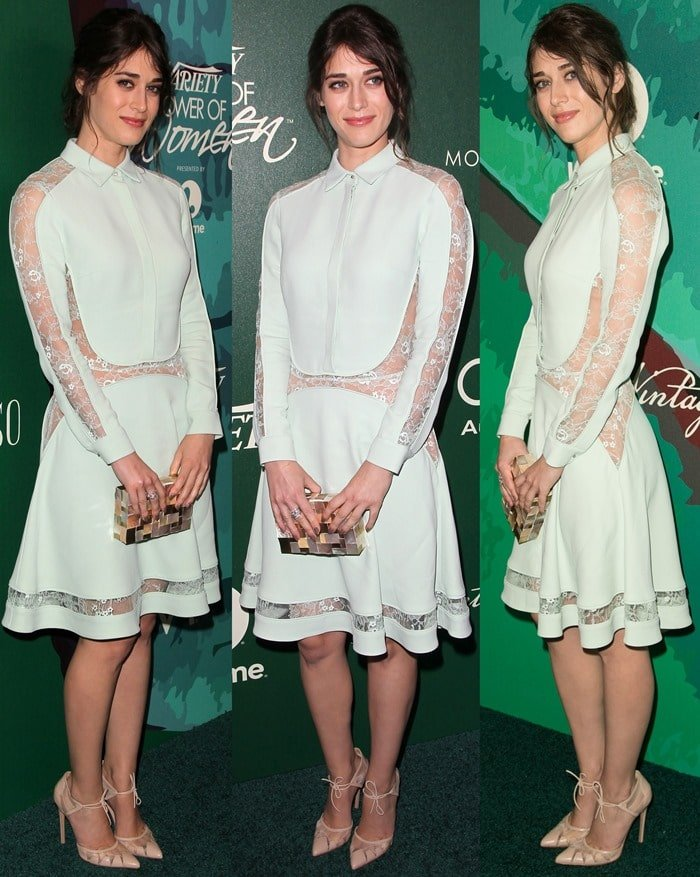 Lizzy Caplan flaunted her legs at the 2014 Variety Power of Women event