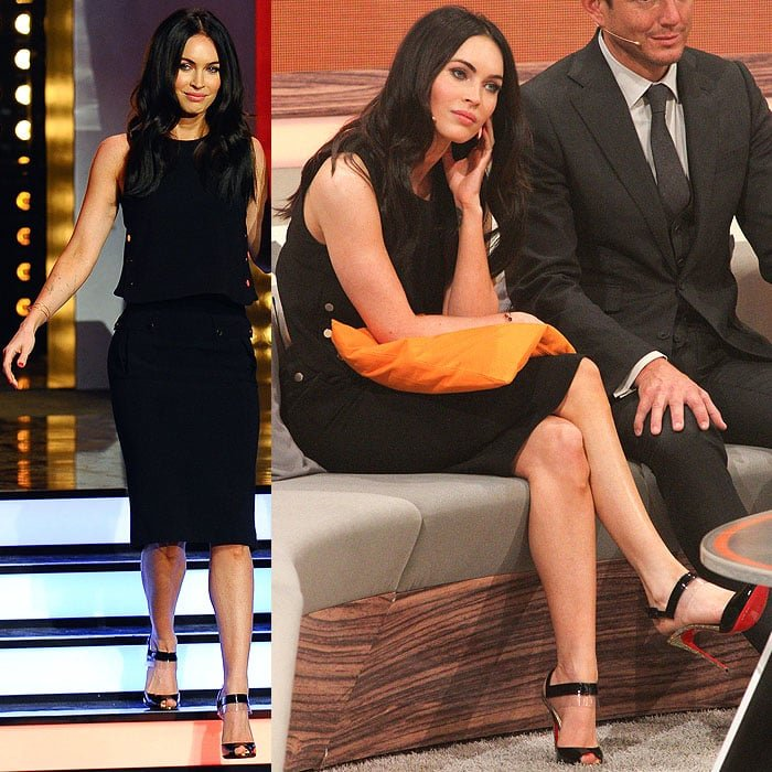 "Megan Fox guesting on the German ZDF TV show ""Wetten, dass..."" at Messe Erfurt in Erfurt, Germany, on October 5, 2014"