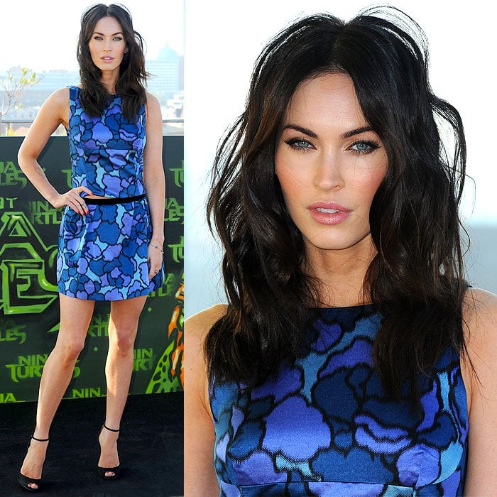 Megan Fox at the Teenage Mutant Ninja Turtles photo call held on the roof of the Backfabrik (bakery factory) in Berlin, Germany, on October 5, 2014