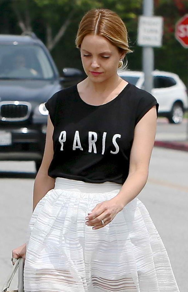 Mena Suvari seen leaving an office building in Beverly Hills in Los Angeles, California on April 11, 2014