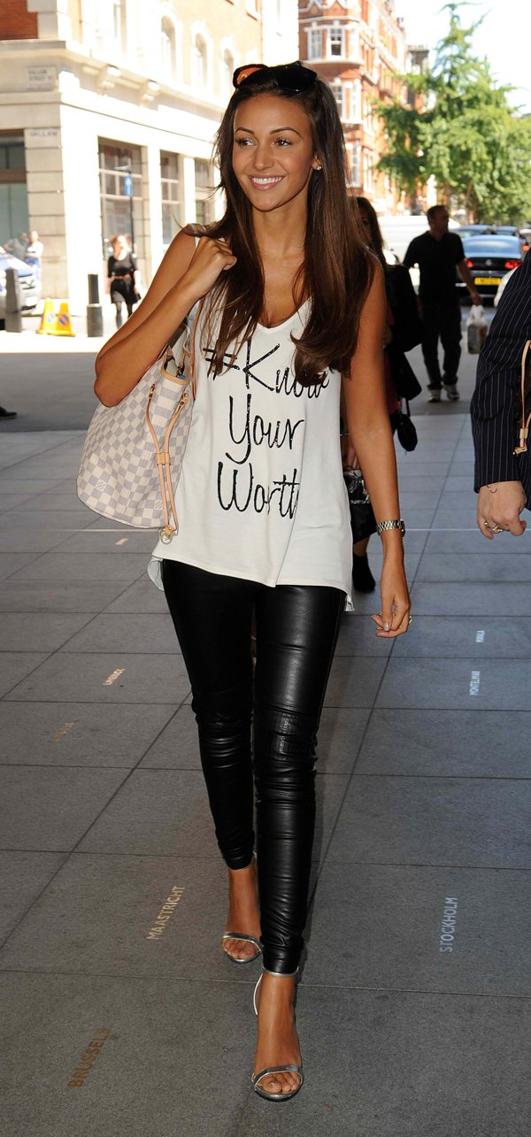 Michelle Keegan pictured at Radio 1 in London on July 3, 2014