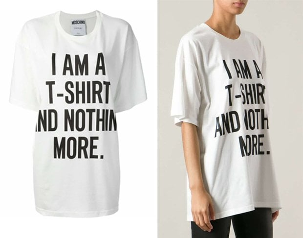 Moschino 'I Am A T-shirt And Nothing More' T-shirt