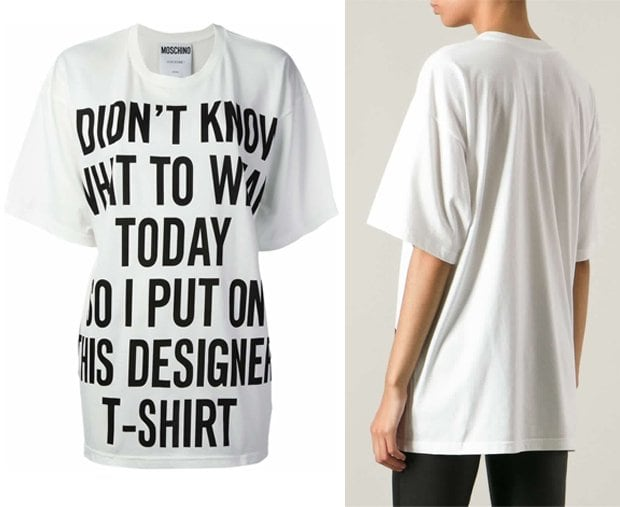 Moschino 'I Don't Know What to Wear Today' t-shirt