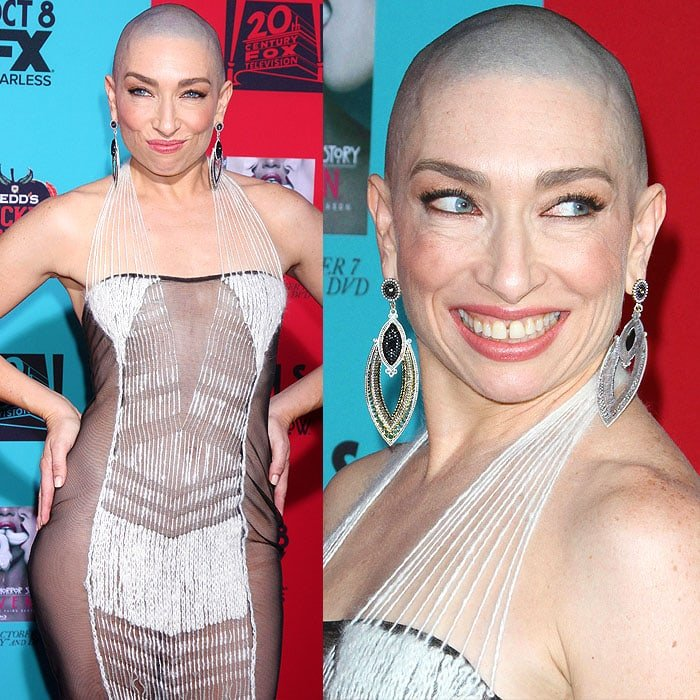 Naomi Grossman modeling all the angles of her Natalia Fedner haute couture 2014 Empress gown