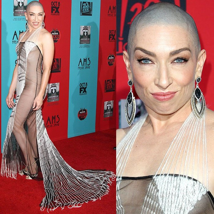Naomi Grossman's sheer gown displayed her naked state underneath