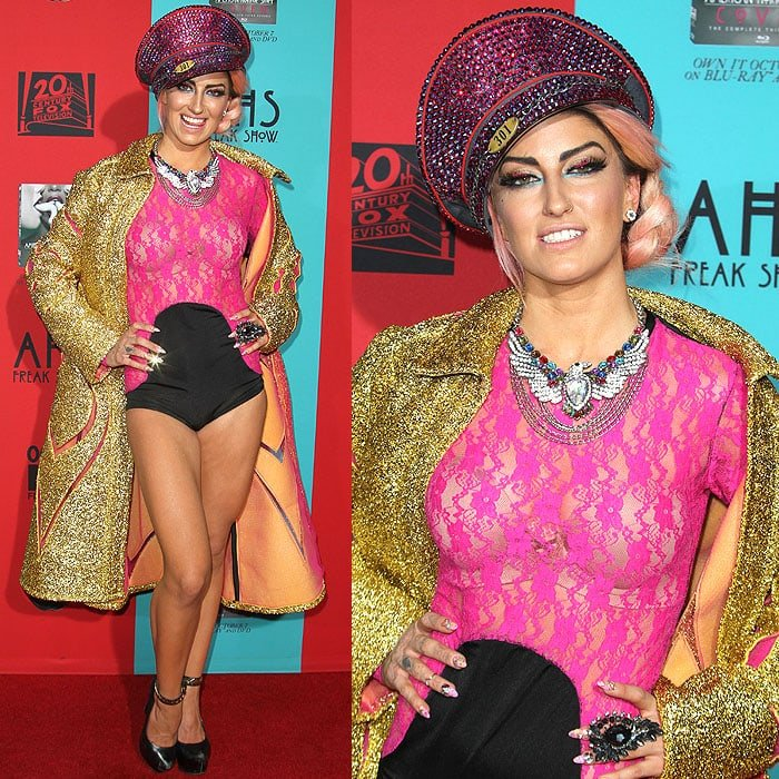 British singer Neon Hitch at the American Horror Story: Freak Show premiere