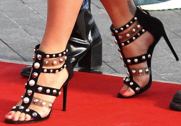 Rita Ora wearing a gorgeous pair of 'Caspia' sandals by Nicholas Kirkwood