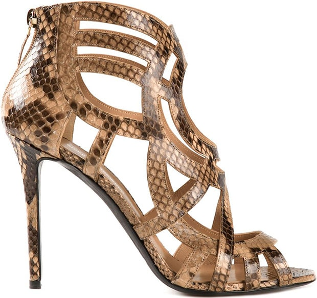 Nicholas Kirkwood Laser-Cut Snakeskin Sandals