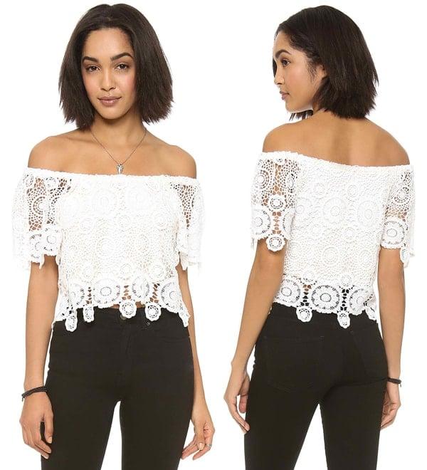 Nightcap Clothing Carmen Crochet Top
