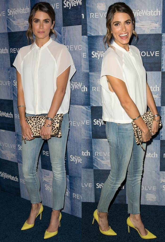 "Nikki Reed's frayed cropped ""The Looker"" skinny jeans by Mother"