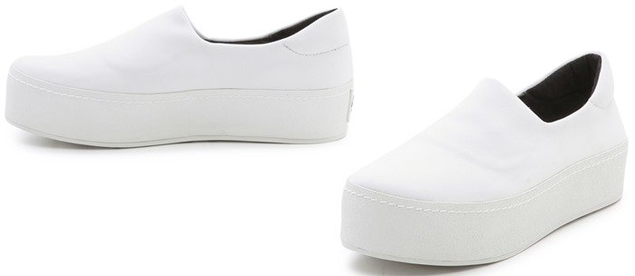 Opening Ceremony White Slip On Platform Sneakers Tiger