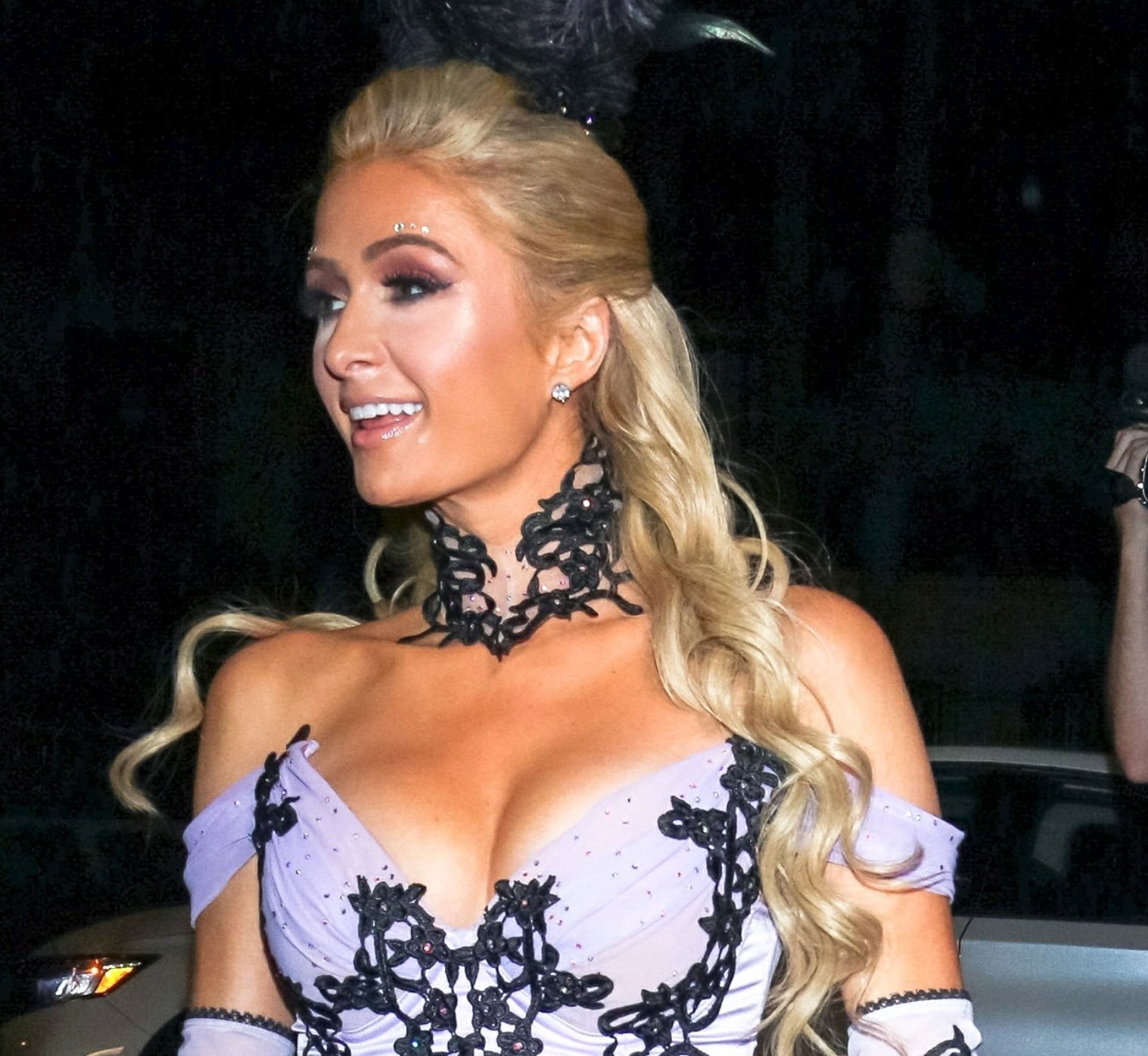 Paris Hilton claims the secret behind her eye-popping cleavage is a pushup bra from her own lingerie line