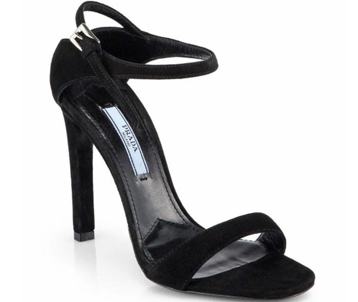 Prada Strappy Suede Sandals