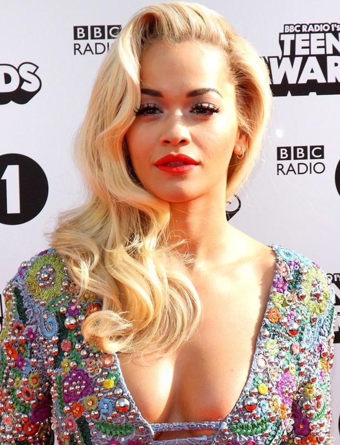 Rita Ora at the 2014 Radio One Teen Awards held at Wembley Arena in London on October 19, 2014
