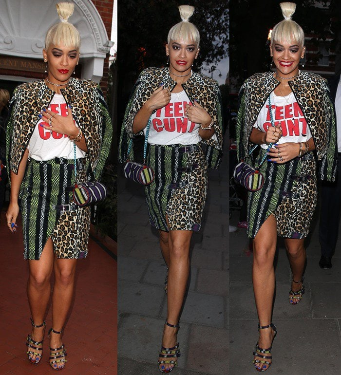 Rita Ora attends House Of Holland LFW SS 2015 in London on September 14, 2014