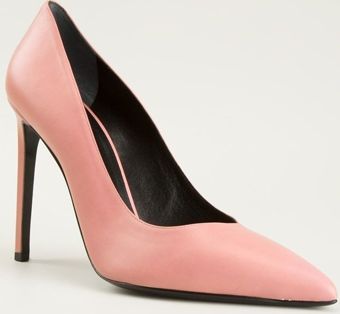 Saint Laurent Pink Paris Pumps