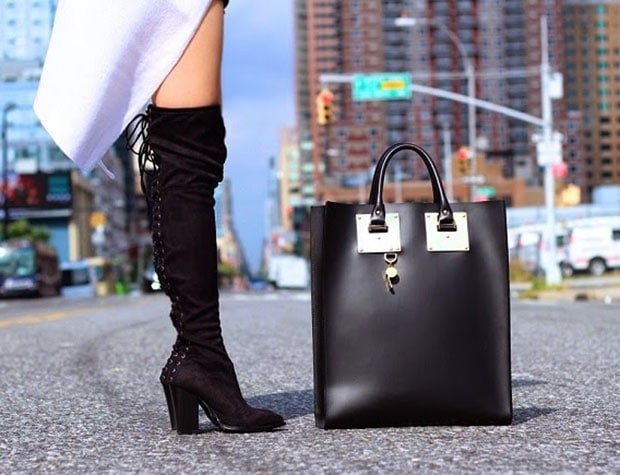 Sasa wearing boots without looking like Pretty Woman
