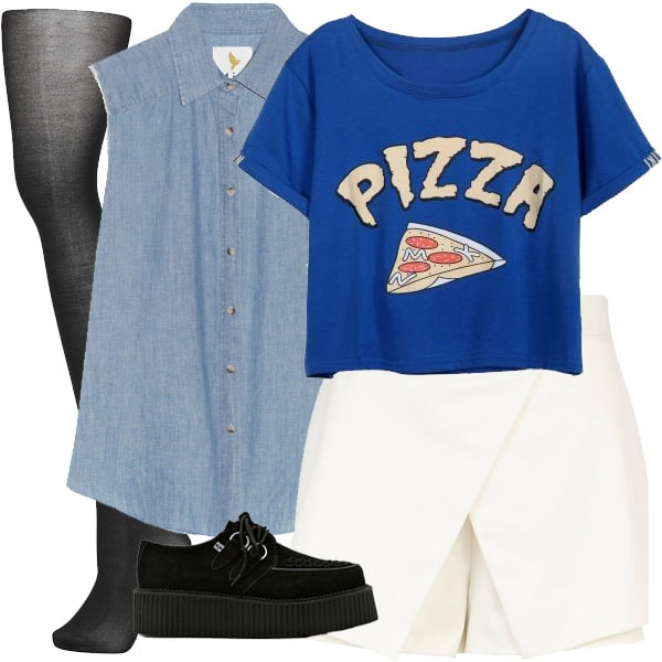 Fashionable pizza ensemble